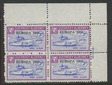 Guernsey ALDERNEY 1966 Europa 3d PROOF block 4