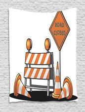 Logo Tapestry Traffic Warning Symbol Print Wall Hanging Decor