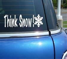 THINK SNOW WINTER SPORTS SKI SNOWBOARD GRAPHIC DECAL STICKER ART CAR WALL DECOR
