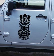 Tiki Head tribal decal vinyl sticker kahuna Hawaiian fits any tacoma  tahoe  TK3
