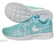 Nike Kaishi Snowflake Print GS (Roshe Run Style) Girls Trainers  Light Aqua Blue