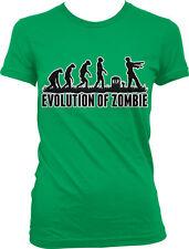Evolution Of Zombie Human Ape Chart Grave Dead Undead Rise RIP Juniors T-Shirt