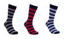 "Men Bamboo Striped Multi-Color Dress ""Party"" Socks by Rambutan Seamless Fun"