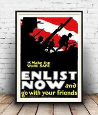 Conquistare ora & Go con gli amici: VINTAGE GUERRA informazioni poster riproduzione
