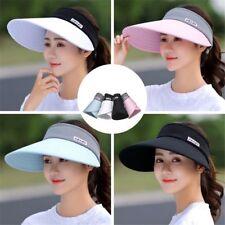 New Woman UV Protection Cap Wide Brim Visor Summer Sun Hat Foldable Outdoor Cap