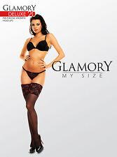 Glamory Halterlose Strümpfe Deluxe 20, div. Farb+Größenauswahl bis Gr. 62, 50111