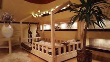 Mon lit cabane, Lit pour enfants,lit d'enfant,lit cabane avec barrière + MATELAS