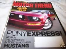 Motor Trend Magazine 11/2004 New Mustang
