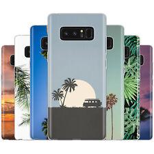 Dessana Palmiers TPU Etui de Protection en Silicone Étui Portable pour Samsung A
