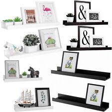 Set of 2 Floating Wall Shelves Picture Ledge Display Rack Book Hanging Shelf