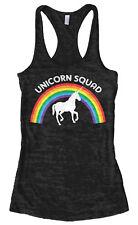 Unicorn Squad Women's Burnout Racerback Tank Top Rainbow Birthday Gift Idea