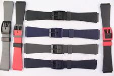 Uhrenarmband 17mm  Schwarz-Blau-Grau-Dunkelblau Bundfarbe Kautschuk Swiss Made