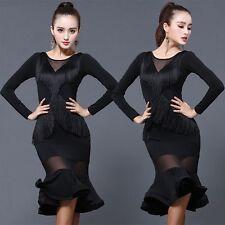 New Dancewear Tassels Latin Dance Performance Dress Rumba Samba Cha Cha Ballroom