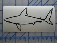 "Shark Outline Decal Sticker 5.5"" 7.5"" 11"" Inshore Fish Offshore Blacktip Mako"