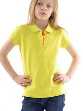 CMP haut polo haut chemise décontractée vert col boutons stretch fluo