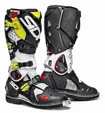 SIDI Crossfire 2 TA White Black Yellow Motocross Boots - Fast, Free Shipping