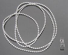 Rollokette (weiß) 4,5*6 mm - Endloskette - verschweißt - Bedienlängen: 50-300 cm
