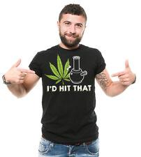 I'd Hit that marijuana cannabis T-shirt Funny Men's Tee Shirt Weed Ganja Tshirt