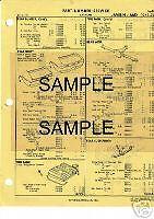 1969 1970 1971 DODGE TRUCK PICK-UP BODY PARTS LIST PART NUMBERS CRASH SHEETS !