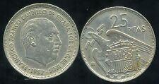ESPAGNE  25 pesetas 1957 ( 69 )