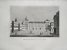 Turin Turino  Italien Italia Königlicher Palast alter  Kupferstich 1835