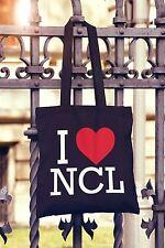 I Love Newcastle Canvas Tote Bag Shopper Heart NCL