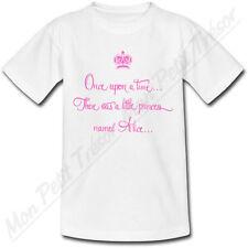 T-shirt Enfant Once Upon a Time avec Prénom Personnalisé