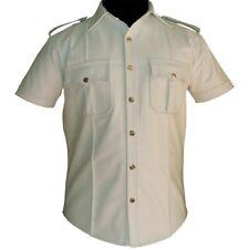 cuir police uniforme hommes très chaud Véritable Chemise BLUF Gay pshs-wht