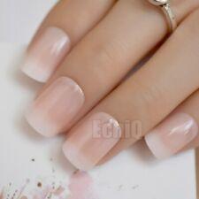 24/1 French Manicure Short / Medium / Long False Fake Nails Tips pedicure manicu