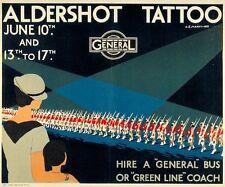 1933 Aldershot Military Tattoo Poster A3/A2/A1 Print