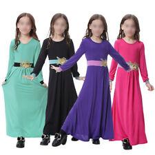 Kinder Mädchen Muslim Robe Abaya Kaftan Mittlerer Osten islamisch Dubai Kleid