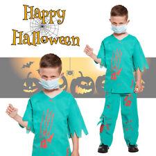 Boys Fancy Dress Bloody Doctor Halloween Horror Costume Scary Zombie Party