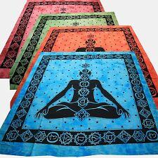 Coperta da giorno da LETO chakra meditazione BATIK tinta unita Tela decorativa
