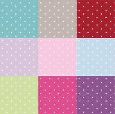 Vintage Polka Dot 100% Cotton Fabric Premium Lifestyle Dotty Spots 140cm Wide