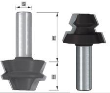 HW-(HM) Gehrungs-Verleimfräser Set 45° Z=2 MAN geeignet  Schaft 8/12 mm SK1224