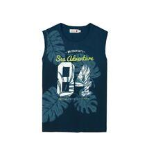 Niños Camiseta sin Mangas Azul Boboli 835231 Gr 98 104 110 116 122 128 140 152