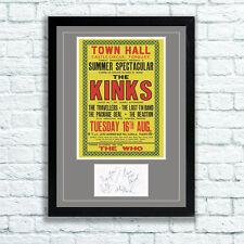 The Kinks Concert Poster & Autographs Memorabilia Poster Torquay 1966
