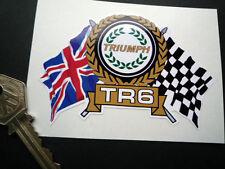 TRIUMPH TR6 Flags & Scroll classic sports car sticker Canley Standard Karmann