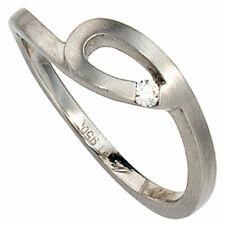 Anillo de Dama 950 Platino Mates con Diamante Brillante Lazo