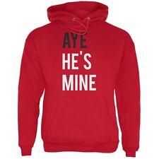Valentine's Day AYE He's Mine Red Adult Hoodie