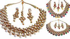 Indian Traditional Bollywood Kundan GoldPlated Choker Bridal Fashion Jewelry Set