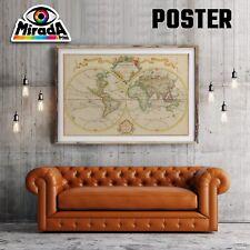 POSTER MAPPA  WORLD MAP OLD  03 CARTA FOTOGRAFICA QUALITA' 35x50 50x70 70x100
