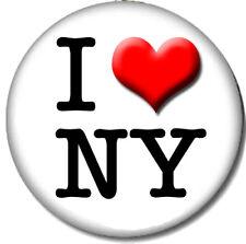 I Love New York Pin-Back Button - I Heart NY City NYC Fun Flair USA - 6 Sizes