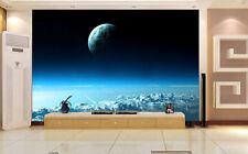Dark Space Earth Space Scene Full Wall Mural Photo Wallpaper Print Home 3D Decal