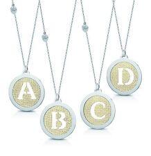 Collana Gisel by Artecora in acciaio con medaglione lettera iniziale