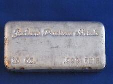 Jackson Precious Metals .999  10 Oz Ingot Poured B4152