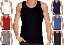 Gaffer Mens Regular Fit Top Multi Pack Lot Basic Cotton Summer Vest