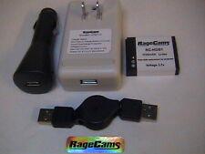 4pc BATTERY CHARGER Kit USB-AC/DC/WALL-CAR+ FOR GoPro HD Hero Hero2 HD2 HERO 960