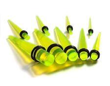 Piercings à l'unité ECARTEUR expander ACRYLIQUE jaune transparent 1,6mm à 10mm