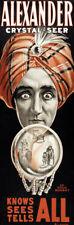 "M11 Huge 17""x51"" Vintage 1898 Magic Alexander Crystal Ball Magician Poster"